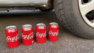 Crushing Crunchy & Soft Things by Car! - EXPERIMENT: CAR VS COCA COLA