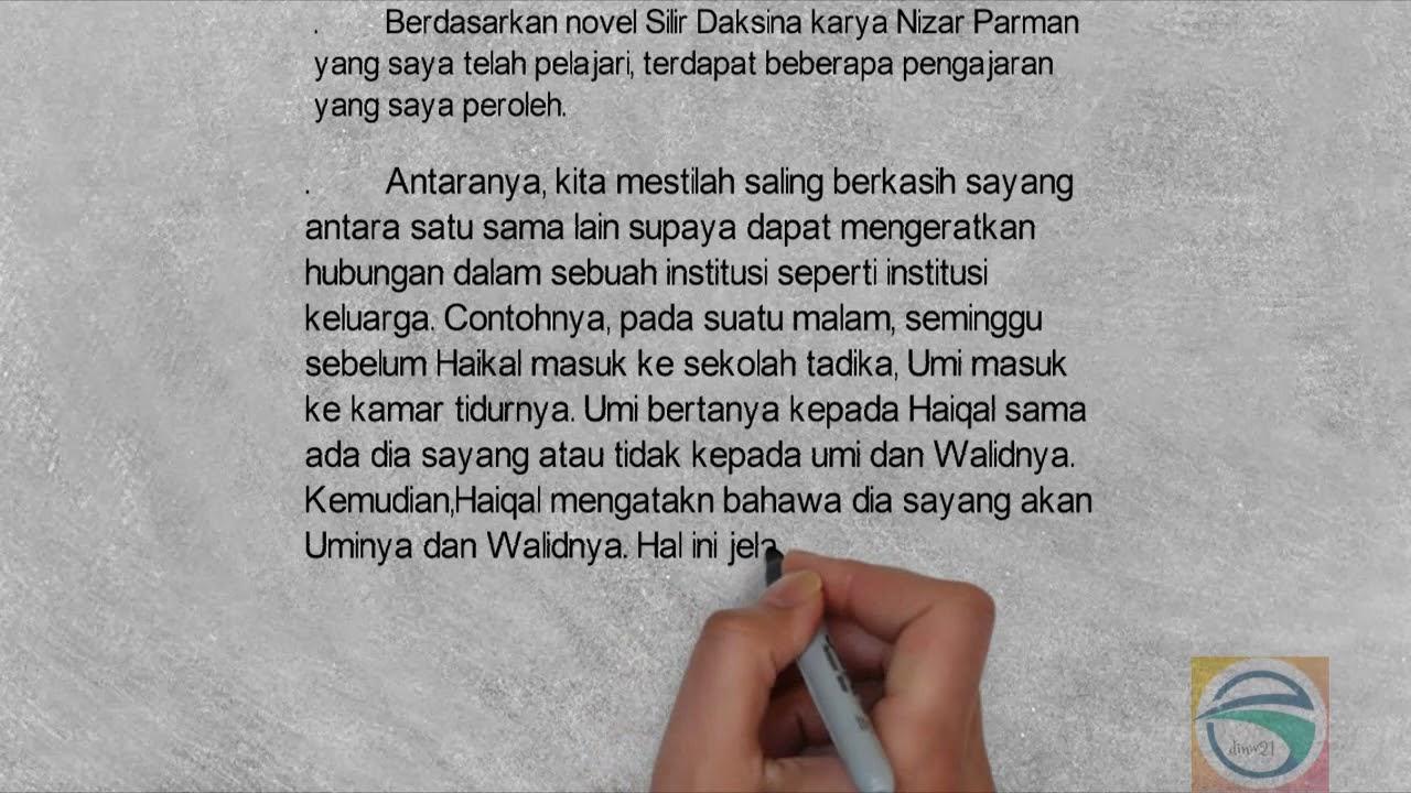 Contoh 4 Soalan Jawapan Novel Silir Daksina Youtube
