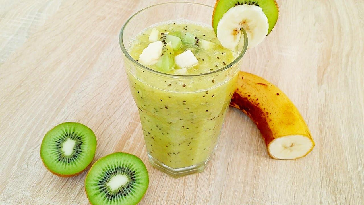 rezept schneller gesunder kiwi bananen smoothie ganz. Black Bedroom Furniture Sets. Home Design Ideas