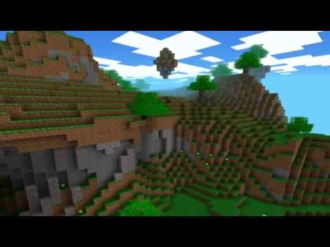 Minecraft Pocket Edition Seed (Lava,overhangs/caves, waterfalls, floating island)