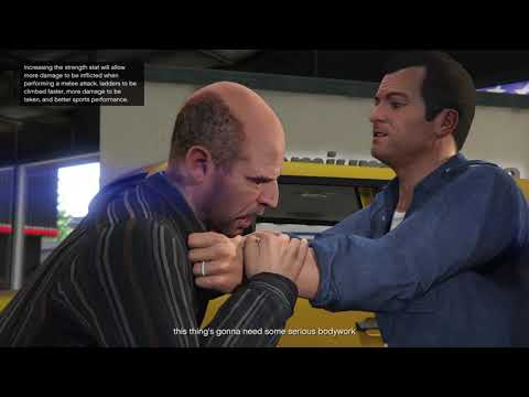 Meeting Michael and wrecking the car lot | Grand Theft Auto 5