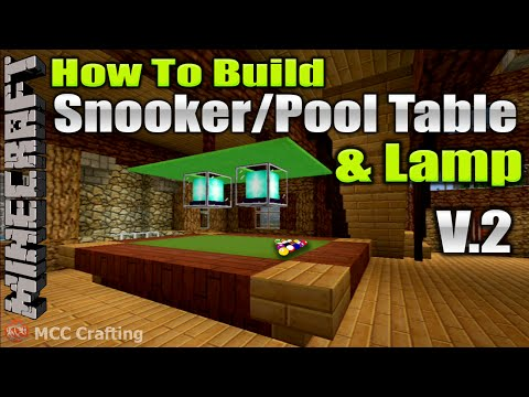 Minecraft How To Build Snooker Pool Billard Ball Table