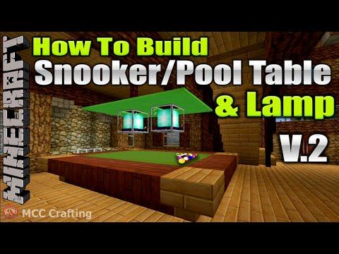 Minecraft How To Build Snooker Pool Billard Ball Table