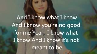 Repeat youtube video Selena Gomez - My Dilemma lyrics