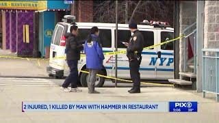Hammer attack: 1 killed, 2 injured at Brooklyn buffet