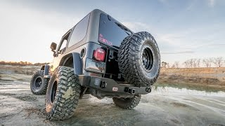 We equip our 2003 Jeep Wrangler TJ with ARB's newest bumper/tire ca...