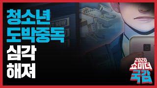 [쇼미더국감 2020 최형두 의원] 청소년 도박중독 심…