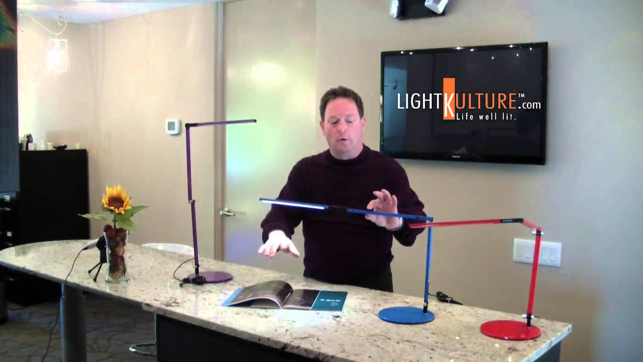 Koncept Z-Bar Mini LED Desk Light Product Demonstration ...