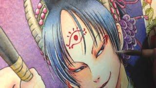 Watercolor painting  Hozuki no reitetsu [鬼灯の冷徹 水彩イラストメイキング]
