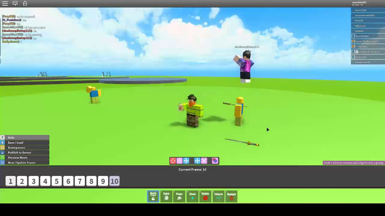 How To Create A Basic Movie In Movie Maker 3 Roblox For Beginners