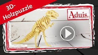 3D Holzpuzzle Dinosaurier