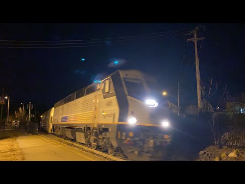 NJT PL42AC 4008 Leads M&E Train 881 Into Netcong Station 2/28/20