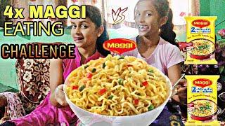 4x MAGGI NOODLES EATING CHALLENGE   NOODLES EATING CHALLENGE   Food eating challenge