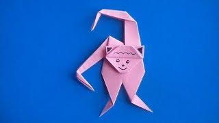 как сделать оригами обезьяну из бумаги своими руками