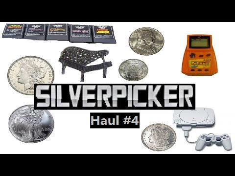 Garage Sale Picking Haul: Coins, Silver Scrap,Video Games, Disney Movies, and More! #004