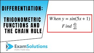 Download Video Differentiating trigonometric functions using the chain rule : ExamSolutions MP3 3GP MP4