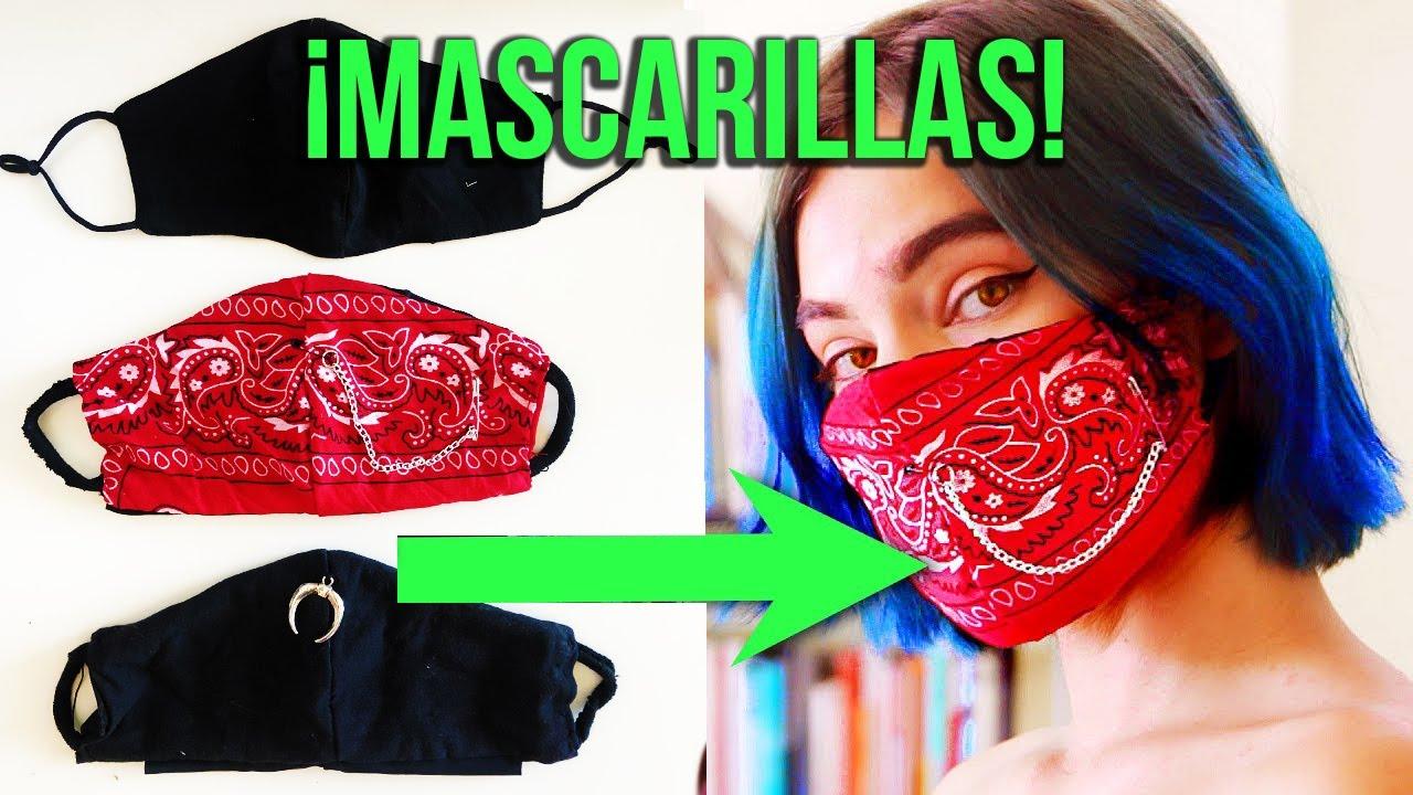 MASCARILLAS hechas A MANO con ROPA !!   TAPABOCAS DIY