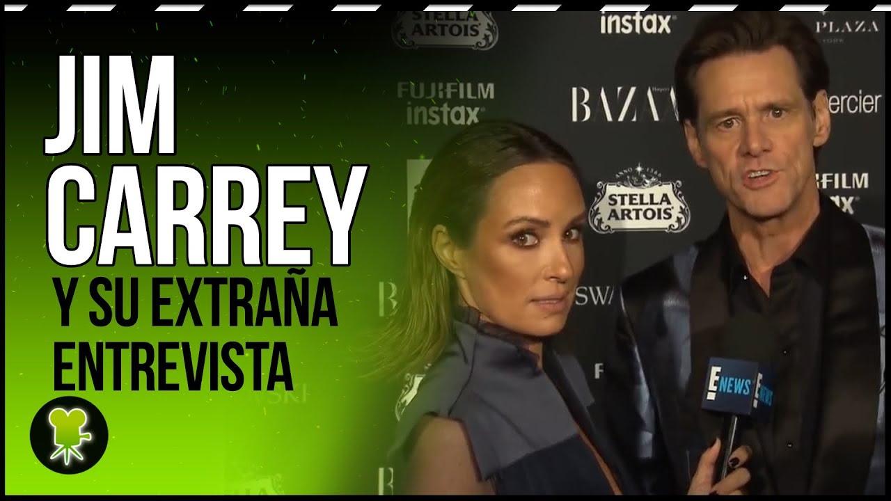 La incómoda entrevista a Jim Carrey en la NYFW, traducida al español
