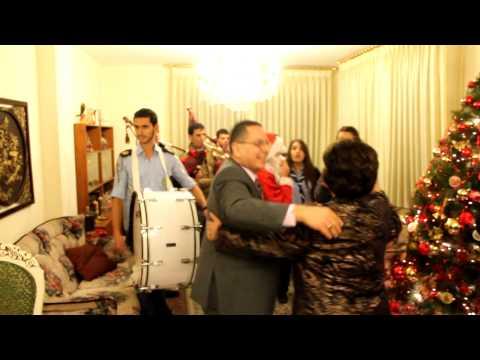 Christmas eve at the Hamameh's in Amman at dar Abu Fadi