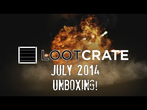LOOTCRATE! - July 2014 Unboxing with Baer! - 동영상