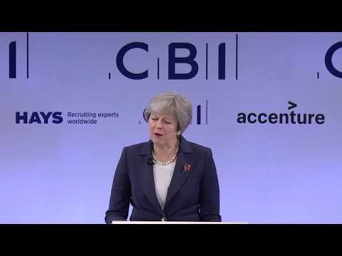 Prime Minister Theresa May speaks at CBI Annual Conference