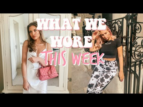 WHAT WE WORE THIS WEEK TO FASHION COLLEGE! FILMING &TAKING INSTA PICS