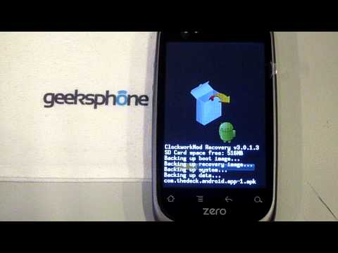 Geeksphone Zero Update From Recovery. Stock rom (Froyo 2.2.1) to CM7 (Gingerbread 2.3.3) 1 Part