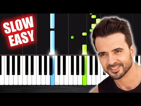 Luis Fonsi - Despacito ft. Daddy Yankee - SLOW EASY Piano Tutorial by PlutaX