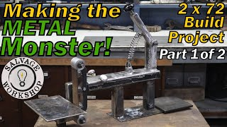 2x72 SCRAP Metal Grinder ~ BUILD PROJECT – 1 of 2