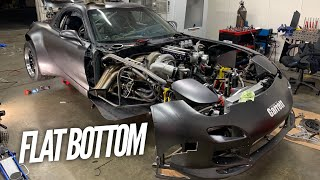 4 Rotor RX-7 gets a FLOOR?! Flat Bottom time!