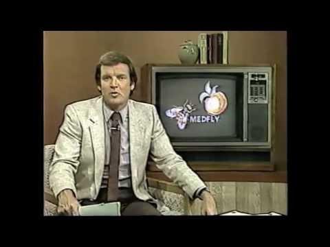 Medfly Spraying over Cupertino   KTXL 1981