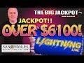 ♠️ IMMEDIATE HIT ♠️  ⚡ OVER $6100 JACKPOT on LIGHTNING LINK ⚡