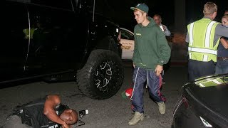 Funny Video: Justin Bieber Runs Over Paparazzi With His Monster Truck