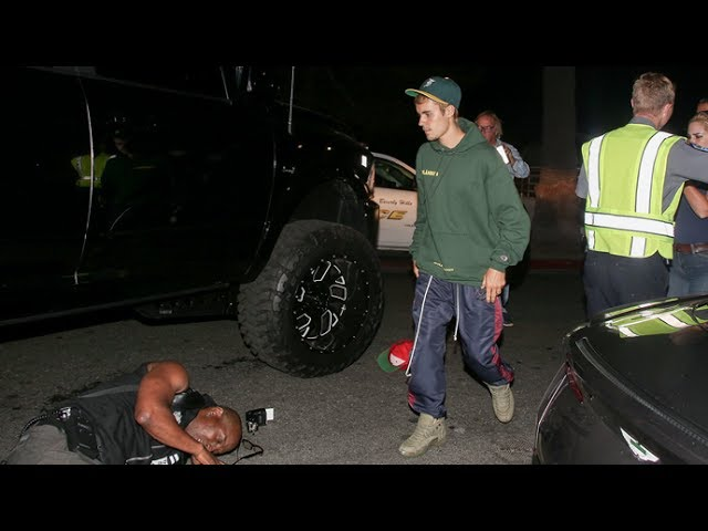 Justin Bieber Runs Over Paparazzo With Monster Truck