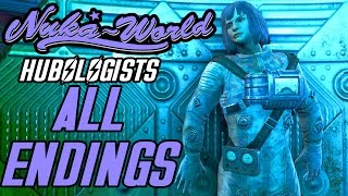 Fallout 4 Nuka World - Trip to the Stars - ALL ENDINGS - The End of Hubologists