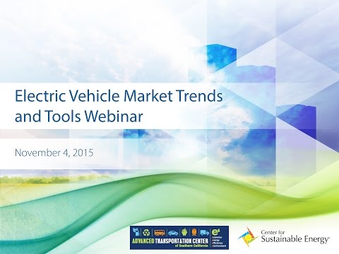 Webinar: Electric Vehicle Market Trends and Tools
