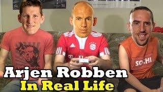 Arjen Robben in Real Life Ft Ribery  Schweinsteiger