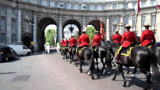 Royal Canadian Mounted Police at Admilralty Arch London, May 24th 2012