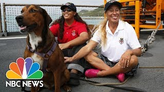 Rescued Sailors Jennifer Appel And Tasha Fuiava Say U.S. Navy Crew 'Saved Our Lives' | NBC News