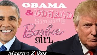 Video Donald Trump And Barack Obama Singing Barbie Girl By Aqua - Maestro Ziikos download MP3, 3GP, MP4, WEBM, AVI, FLV Desember 2018