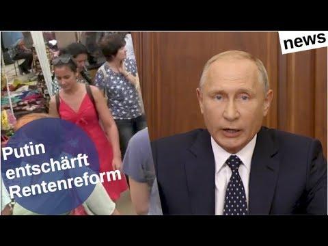 Putin entschärft Rentenreform