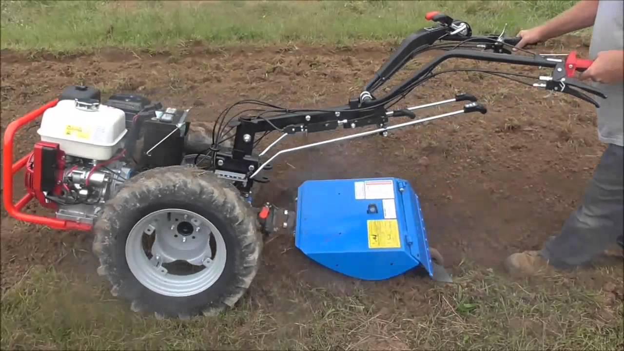 Acme Garden Tractor : Bcs berta rotary plow breaking new ground funnydog tv