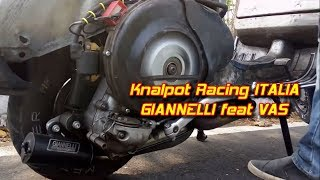 Tune Up Vespa Kilat, knalpot racing Vespa Giannelli || Aji VAS