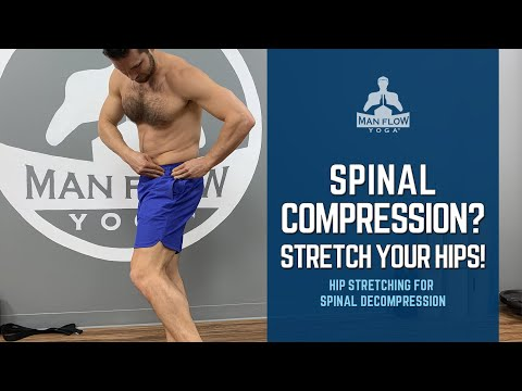 At Home Spinal Decompression Secret - Stretch Your Hips Instead!