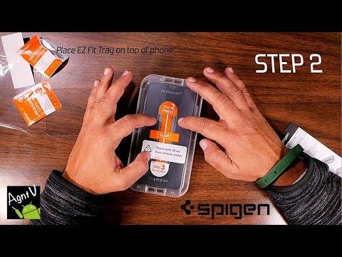 Spigen EZ Fit Screen Protector On IPhone XS Max Install