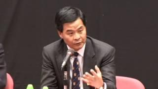 英皇書院 80 週年校慶講座 梁振英 香港特區政府首長
