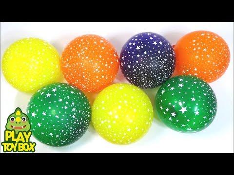Stars Color Balloons POP Surprise Egg Toys