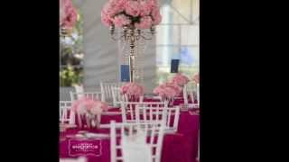 All Season Rental Elegant Outdoor Wedding With Candelabras, Chiavari Chairs, Rosett Linen