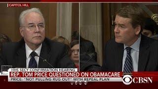 Tom Price grilled over Obamacare reform