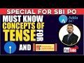 Must Know concepts of Tense for SSC CGL 2017